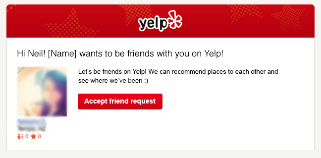 Revised Yelp Friend Notification